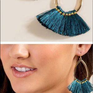 NWT Francesca's Eliana Tasseled Drop Earrings